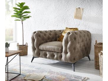 Fauteuil de lounge Corleone  taupe  look vintage