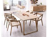Table à manger designer Wyatt 200x90 cm Sheesham nature