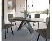 Table manger Davion 160/200x90 cm céramique gris métal extensible