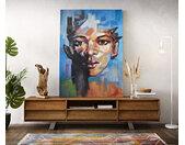Peinture Haley multicolore 100x140 cm acrylique sur toile