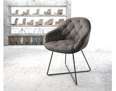 Fauteuil Gaio Flex anthracite vintage X cadre noir