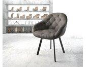 Fauteuil Gaio Flex anthracite vintage 4 pieds ovale noir