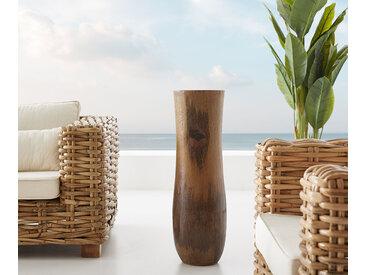 Vase Bayani 75x23 cm noix de coco nature bois massif