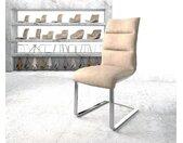Chaise de salle à manger Xantus Flex beige vintage cantilever plat chromé