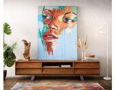 Peinture Girl multicolore 120x170 cm acrylique sur toile