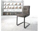 Chaise de salle à manger Vinjo Flex anthracite vintage cantilever plat noir