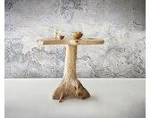 Table de bar Westley Teck naturel bois de racine unique