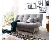 Canapé lit Viol 190x90 cm gris canapé avec compartiment