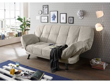 Canapé lit Inaki 208 x 108 cm tissu texturé boue