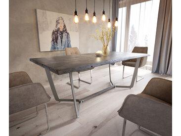Table d'arbre Galeno 193x100 acacia platine cadre métal