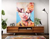 Peinture Expression multicolore 100x140 cm acrylique sur toile
