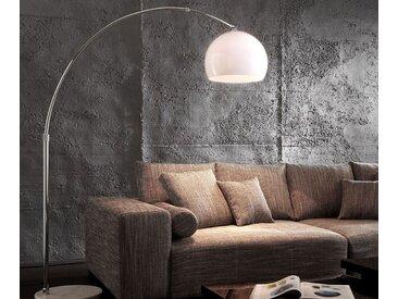 Lampe Big Deal éco lounge arc marbre blanc réglable