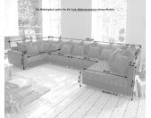 Canapé Panoramique Clovis XL Noir avec accoudoir modulable