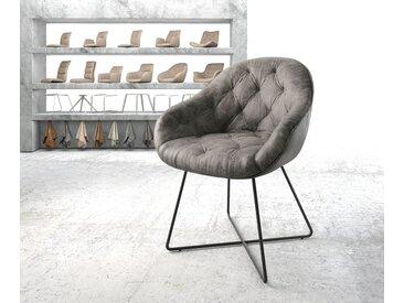 Fauteuil Gaio Flex gris vintage X cadre noir