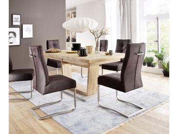 Table à manger Canillo 180/270 x 100 cm chêne nature huilé avec extension