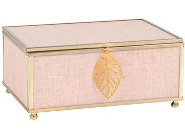 Boîte à bijoux rose et dorée