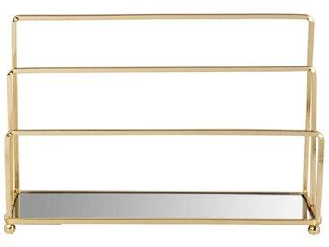 Range courrier en verre et métal doré