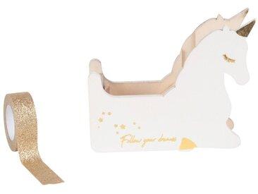 Masking tape avec dévidoir licorne blanche