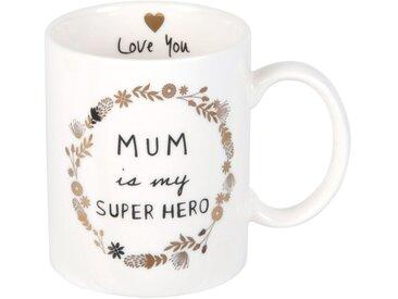 Mug en porcelaine blanche avec inscriptions
