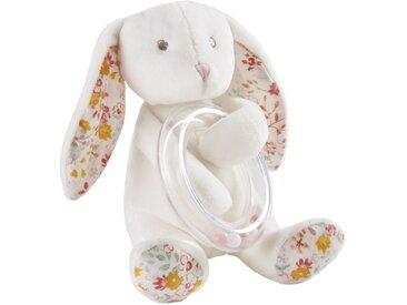 Hochet lapin blanc et rose