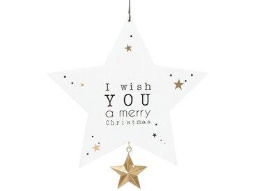 Suspension de Noël étoile blanche imprimé