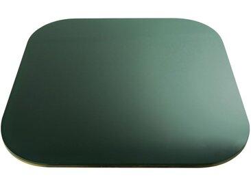 Plateau de table en verre fumé vert 4 personne L90 Blackly