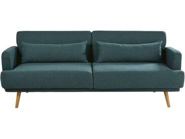 Canapé-lit 3 places vert Elvis