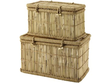 2 malles en bambou