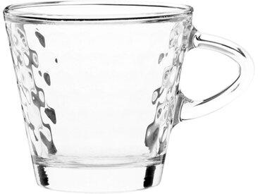 Tasse à expresso en verre effet nid d'abeilles
