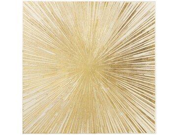 Toile peinture dorée 95x95