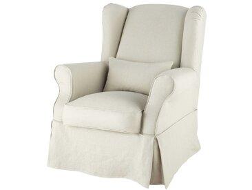 Housse de fauteuil en lin Cottage