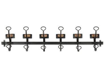 Patère 6 crochets en métal noir