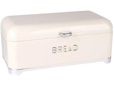 Boîte à pain vintage en métal ivoire