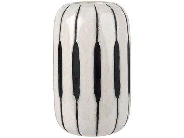 Vase en céramique blanche et noire H22