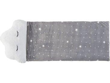Sac de couchage enfant nuage gris et blanc imprimé