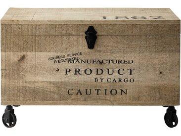 Malle à roulettes en bois L 70 cm MILTON