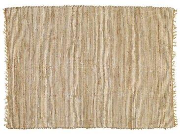 Tapis tressé en coton et jute 160 x 230 cm LODGE