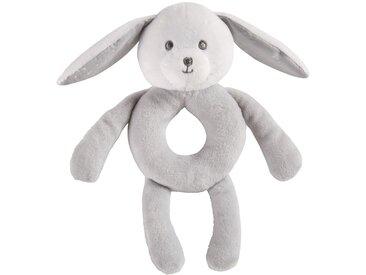Hochet lapin gris et blanc