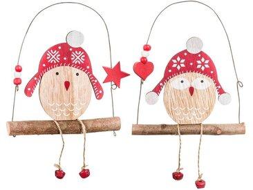 Suspensions de Noël chouettes sur balançoire