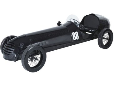 Voiture déco en métal noir avec porte-bouteilles L305
