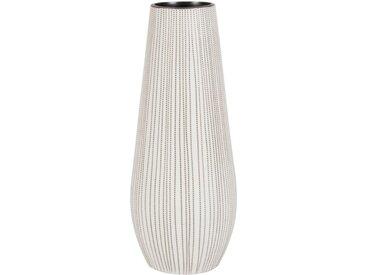 Vase en porcelaine blanche et noire motif pointillés H30