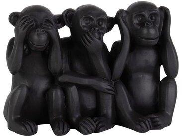 Statuette 3 singes de la sagesse H10