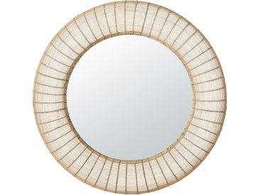 Miroir rond en rotin D91