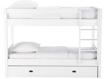 Lits superposés 90x190 blanc Newport