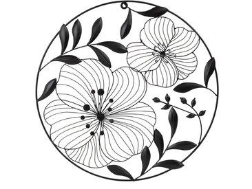 Déco murale filaire fleurs de cerisier noires D43