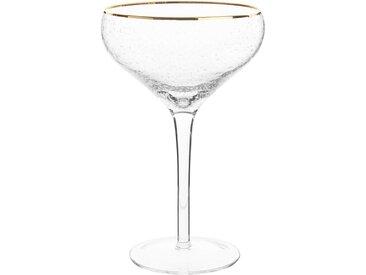 Coupe en verre bullé et liseré doré