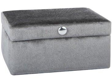 Boîte à bijoux en velours gris