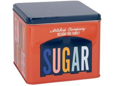 Boîte à sucre en métal multicolore imprimé