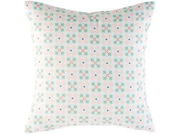 Coussin d'extérieur motifs graphiques roses 45x45