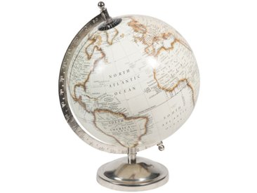 Globe terrestre carte du monde beige